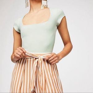 Free People Fair and Square Neck Duo Bodysuit
